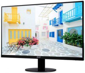 Acer 23.8-inch IPS Full HD Ultra Slim LED Monitor I Zero Frame Design I Eye Care with Bluelight Shield, Flickerless I AMD Free Sync Technology I 1 VGA, 1 HDMI Port I Stereo Speakers I SA240Y (Black)
