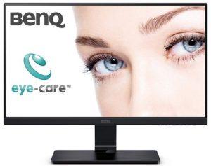 BenQ GW2475H 24 Inch (60.45 cm) IPS Eye-Care Full HD 1080P Monitor, Flicker-Free, Low Blue Light, Dual HDMI, Edge-to-Edge Slim Bezel, VESA Wall Mountable
