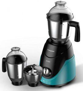 Crompton Ameo 750-Watt Mixer Grinder with 3 stainless steel jars,maxi grind technology (Black & Green)