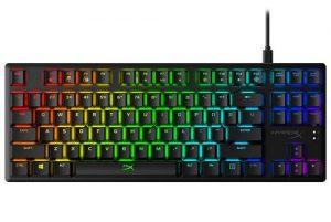 HyperX Alloy Origins Core Tenkeyless Mechanical Gaming Keyboard - Software Controlled Light & Macro Customization - Compact Form Factor - Tactile Switch - HyperX Aqua - RGB LED Backlit (HX-KB7AQX-US)