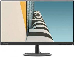 "Lenovo D24-20 23.8"" Work+Play Near Edgeless Monitor 1920x1080 FHD VA Panel 178° Angle,LEDbacklit,75Hz 4ms Response, AMD FreeSync, 1HDMI, 1VGA Port, AudioOut, VESA Mount, TÜV Rheinland Low Blue Light"