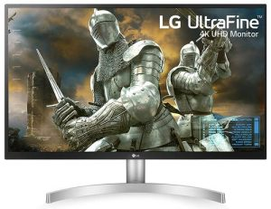LG 27 inch 4K-UHD (3840 x 2160) HDR 10 Monitor (Gaming & Design) with IPS Panel, HDMI x 2, Display Port, AMD Freesync - 27UL500 (Silver Stand with White Body)