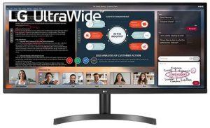 LG UltraWide 34 Inch WFHD (2560 x 1080) IPS Display - HDR 10, AMD Free sync, sRGB 99%, Multitasking and Gaming Monitor - 34WL500