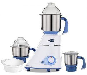 Preethi Blue Leaf Diamond Mixer Grinder, 750W, 3 Jars (Blue/ White)