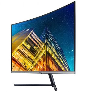 Samsung 32 Inch UHD Sleek Curved Monitor with Three Side Bezel Less & 1 Billion Colors - LU32R590CWWXXL