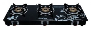suryajwala auto ignition toughened glass cast iron 3 burner gas stove