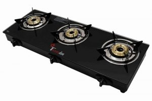 thermador toughened glass top 3 burner gas stove lpg auto ignition