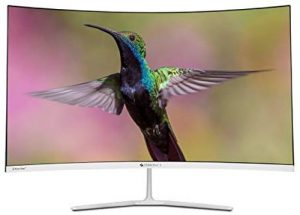 Zebronics 31.5 inch (80 cm) Curved LED Wide Screen Monitor with Full HD Display, HDMI and Display Port, Built in Speaker, Slim Bezel, Metal Stand and Wall Mountable - Zeb-AC32FHD LED